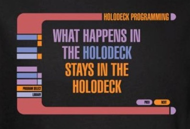 Image for Star Trek T-Shirt - What Happens in the Holodeck