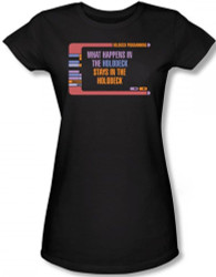 Image for Star Trek Girls T-Shirt - What Happens in the Holodeck
