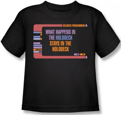 Image for Star Trek Kids T-Shirt - What Happens in the Holodeck