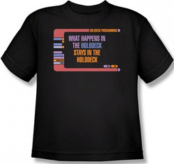 Image for Star Trek Youth T-Shirt - What Happens in the Holodeck