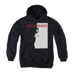 Image for Bruce Lee Youth Hoodie - Badass