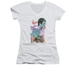 Image for Bruce Lee Girls V Neck T-Shirt - Little Bruce