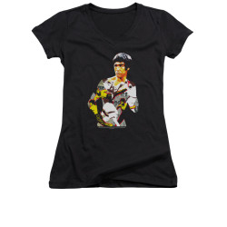 Image for Bruce Lee Girls V Neck T-Shirt - Body of Action