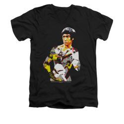 Image for Bruce Lee V-Neck T-Shirt - Body of Action