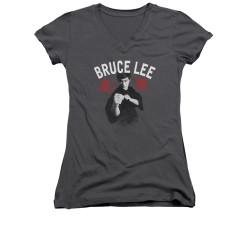 Image for Bruce Lee Girls V Neck T-Shirt - Ready