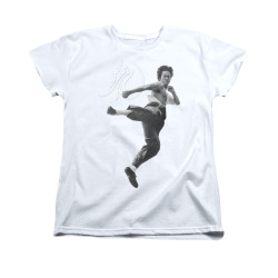 Image for Bruce Lee Woman's T-Shirt - Flying Kick