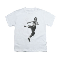 Image for Bruce Lee Youth T-Shirt - Flying Kick