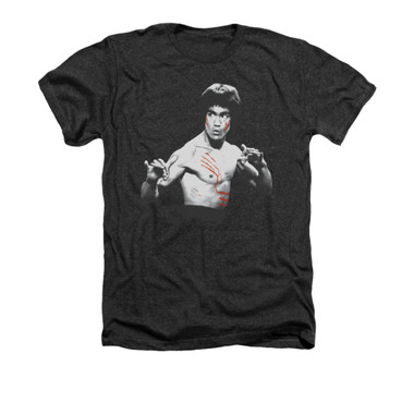 Image for Bruce Lee Heather T-Shirt - Final Confrontation