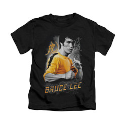Image for Bruce Lee Kids T-Shirt - Yellow Dragon