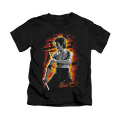 Image for Bruce Lee Kids T-Shirt - Dragon Fire