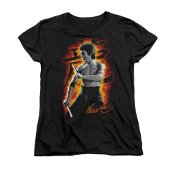 Image for Bruce Lee Woman's T-Shirt - Dragon Fire