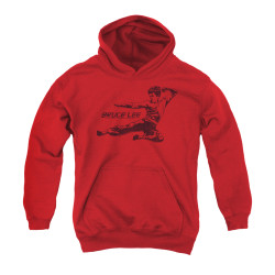 Image for Bruce Lee Youth Hoodie - Line Kick