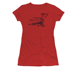 Image for Bruce Lee Girls T-Shirt - Line Kick