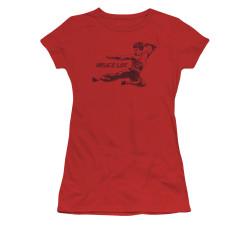 Image for Bruce Lee Girls T-Shirt - Line Kick
