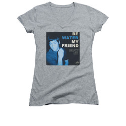 Image for Bruce Lee Girls V Neck T-Shirt - Water