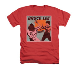 Image for Bruce Lee Heather T-Shirt - Comic Panel