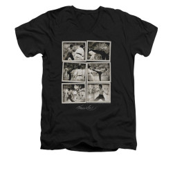 Image for Bruce Lee V-Neck T-Shirt - Snap Shots