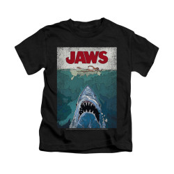 Image for Jaws Kids T-Shirt - Lined Poster