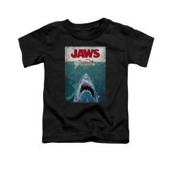 Image for Jaws Toddler T-Shirt - Lined Poster