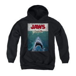 Image for Jaws Youth Hoodie - Lined Poster