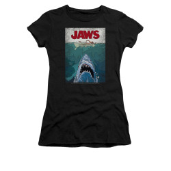 Image for Jaws Girls T-Shirt - Lined Poster