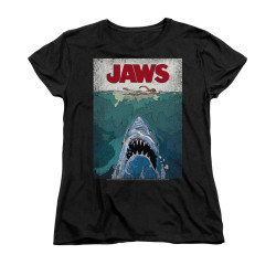 Image for Jaws Woman's T-Shirt - Lined Poster