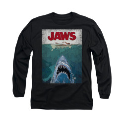 Image for Jaws Long Sleeve T-Shirt - Lined Poster