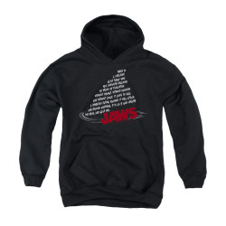 Image for Jaws Youth Hoodie - Dorsal Text