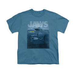 Image for Jaws Youth T-Shirt - Silhouette