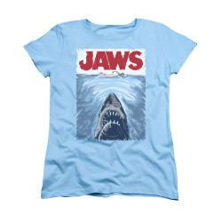 Image for Jaws Woman's T-Shirt - Graphic Poster
