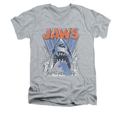 Image for Jaws V-Neck T-Shirt - Comic Splash