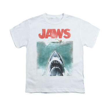Image for Jaws Youth T-Shirt - Vintage Poster