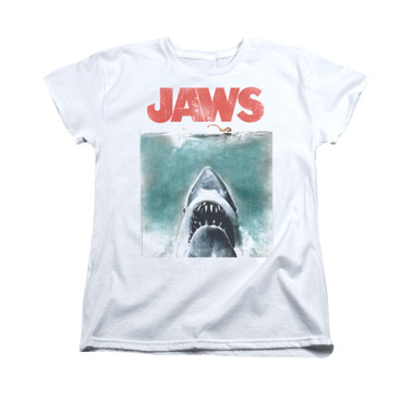 Image for Jaws Woman's T-Shirt - Vintage Poster