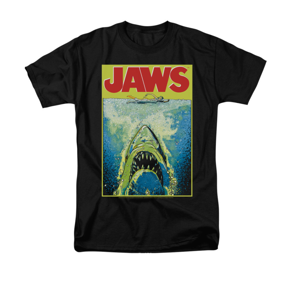 5184bd6e8 Jaws T-Shirt - Bright Jaws - NerdKungFu.com