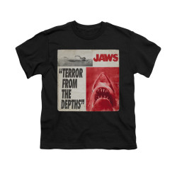Image for Jaws Youth T-Shirt - Terror