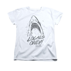 Image for Jaws Woman's T-Shirt - Locals Only