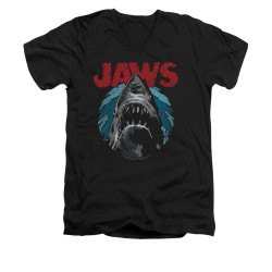 Image for Jaws V-Neck T-Shirt - Water Circle