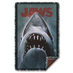 Image for Jaws Woven Throw Blanket - Shark