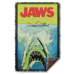 Image for Jaws Woven Throw Blanket - Attack