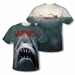 Image Closeup for Jaws Sublimated Youth T-Shirt - Poster