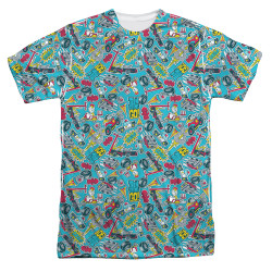 Image for Teen Titans Go! Sublimated T-Shirt - Pattern 100% Polyester