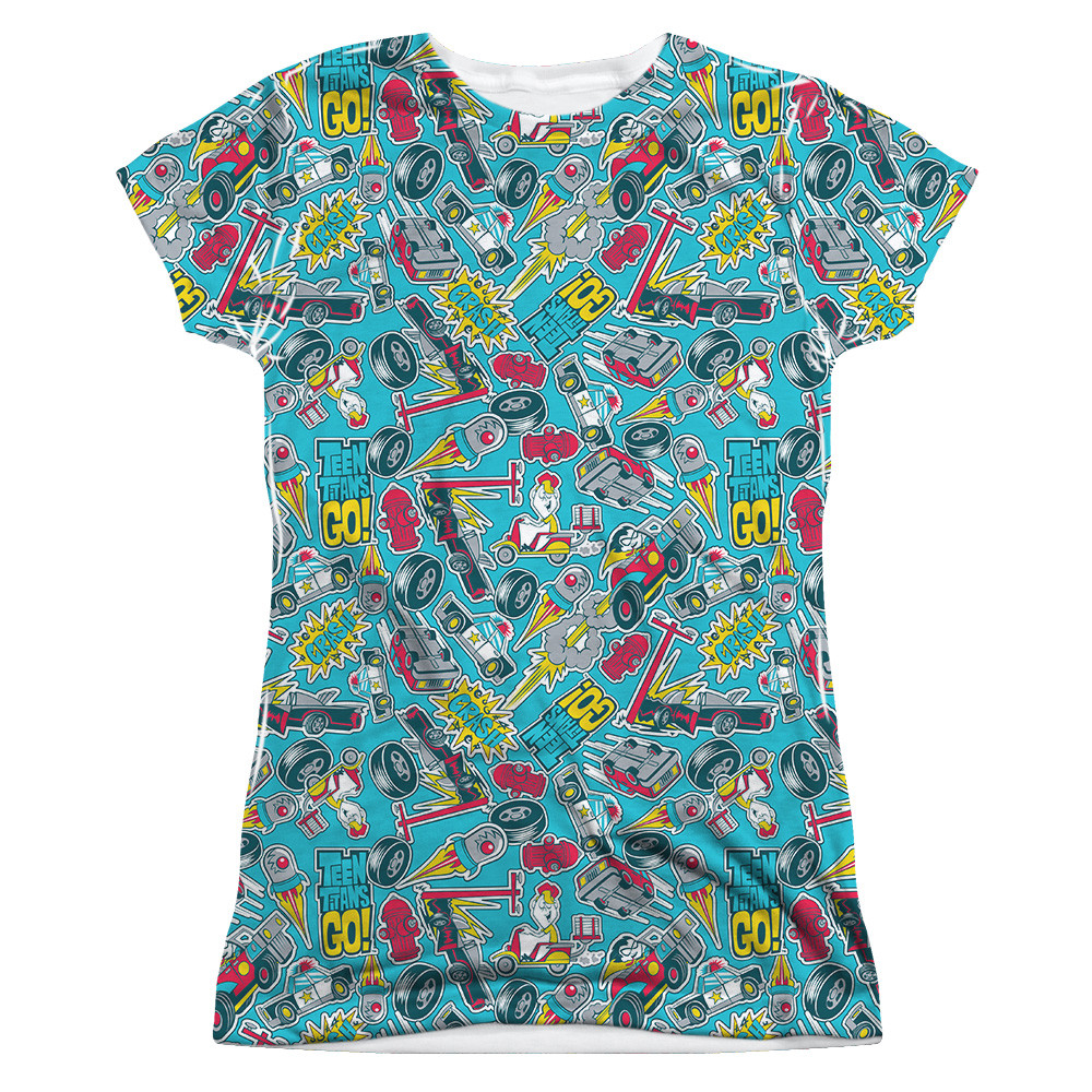 af998231115be4 Teen Titans Go! Girls T-Shirt - Sublimated Pattern - NerdKungFu