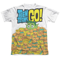 Image Closeup for Teen Titans Go! Sublimated T-Shirt - Burgers & Dogs