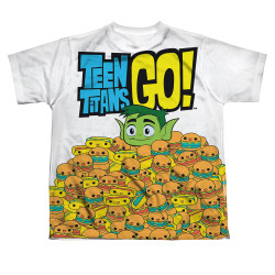 Image for Teen Titans Go! Sublimated Youth T-Shirt - Burgers & Dogs