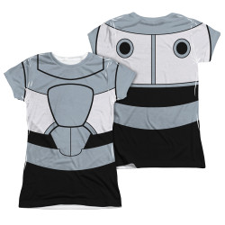 Image Closeup for Teen Titans Go! Girls Sublimated T-Shirt - Cyborg Uniform