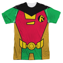 Image for Teen Titans Go! Sublimated T-Shirt - Robin Uniform 100% Polyester
