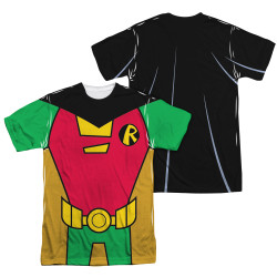 Image Closeup for Teen Titans Go! Sublimated T-Shirt - Robin Uniform