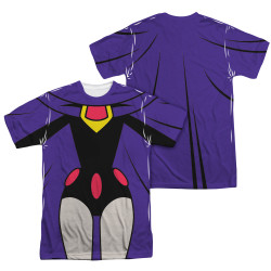Image Closeup for Teen Titans Go! Sublimated T-Shirt - Raven Uniform