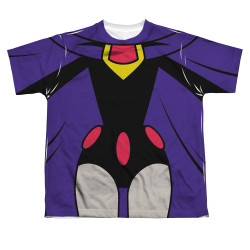 Image for Teen Titans Go! Sublimated Youth T-Shirt - Raven Uniform 100% Polyester
