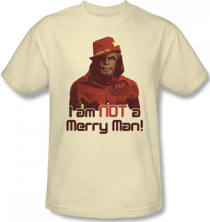 Image Closeup for Star Trek T-Shirt - Worf I am NOT a Merry Man!